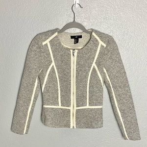 H&M Tweed Faux Leather Lined Jacket